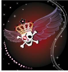 wings skull vector image