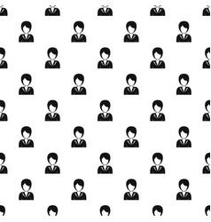women avatar pattern vector image