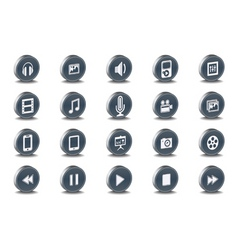 3d web icons vector image