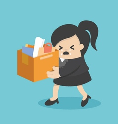 concept of the expulsion of business woman vector image vector image