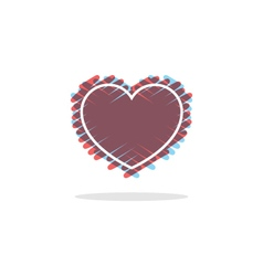 love heart logo and icon vector image
