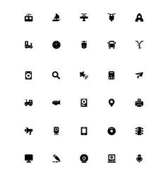 Mini icons 16 vector