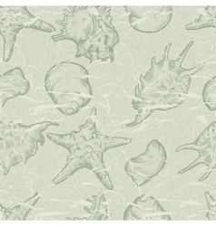 Sea Shells Pattern Background vector image vector image