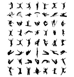 silhouette of jumping vector image