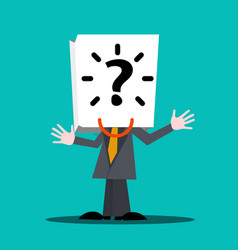unknown man hidden male in suit with question vector image vector image