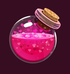 bottle of love game icon of magic elixir vector image