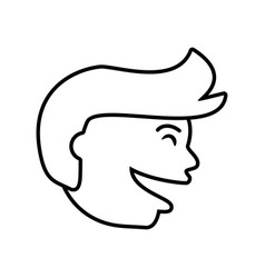 face guy happy outline vector image