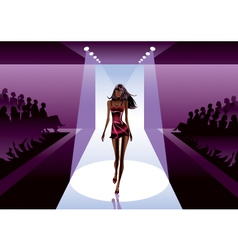 Fashion model on review vector image vector image