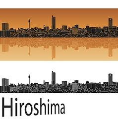 Hiroshima skyline in orange vector image vector image