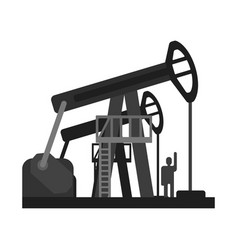oil pump jacks oil industry production equipment vector image