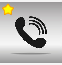 phone black icon button logo symbol vector image