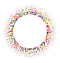 ring of colorful dots scattered around modern vector image vector image