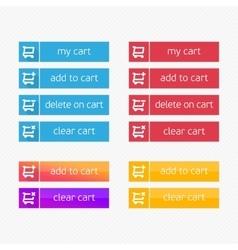 Shopping cart shop button vector image