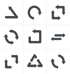 Simple flat design recycle symbols vector image vector image