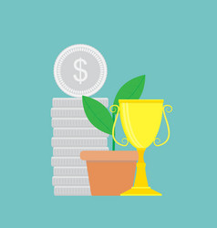 successful finance vector image vector image