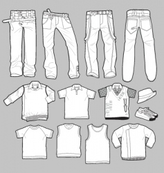 apparel templates vector image