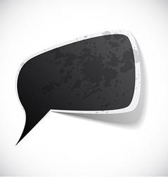 Black grunge speech label design vector