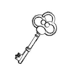 contour old key icon stock vector image