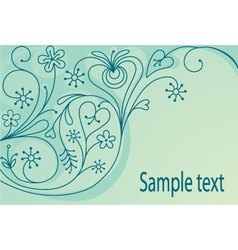 Decorative orante background vector image