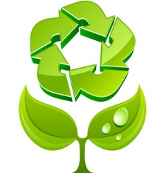 eco sign vector image vector image