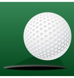 Golf ball rolling into the hole vector image vector image