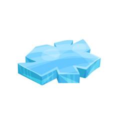 piece of ice iceberg vector image