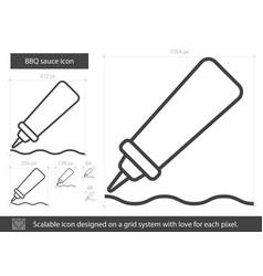 bbq sauce line icon vector image