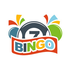 bingo lottery lucky balls numbers of lotto win vector image vector image
