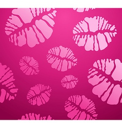 lipstick Kiss shape pattern vector image vector image