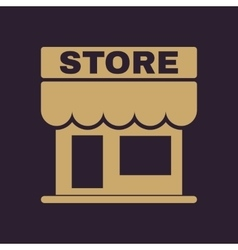 The store icon shop and retail market symbol vector