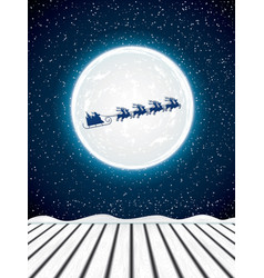 winter night background vector image vector image