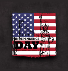 4th july independence day usa grunge vector image
