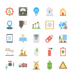 A pack of power and energy icons vector