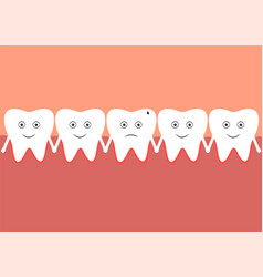 a row of teeth in the oral cavity vector image
