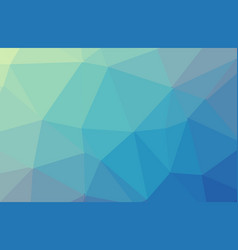 Abstract blue polygon geometric background low vector