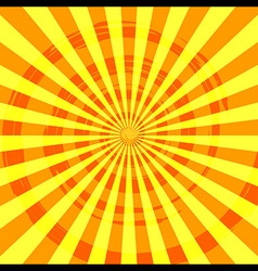 Abstract Burst Ray Background Orange vector image