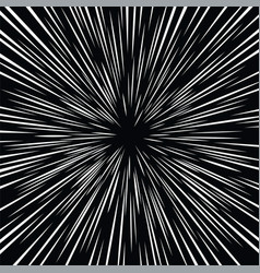 Abstract space warp effect on black background vector