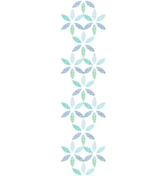 Abstract textile blue green leaves vertical vector
