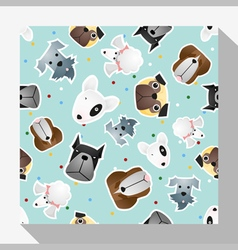 Animal seamless pattern collection with dog 3 vector