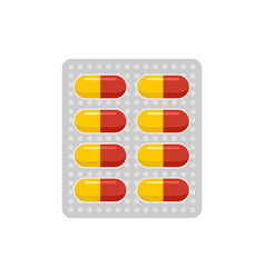 Antibiotic dose pack icon flat style vector