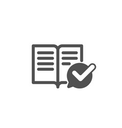 Approved documentation icon accepted or confirmed vector