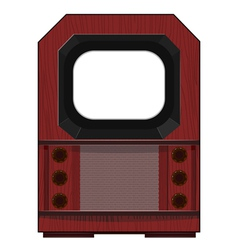 artwork old tv vector image