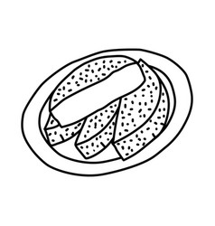 Bandros icon doodle hand drawn or outline icon vector