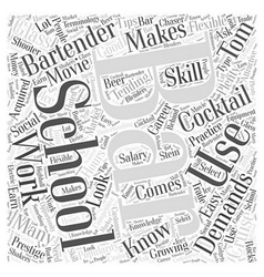 Bartender school Word Cloud Concept vector