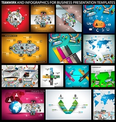 Big SET of Flat Style Design Concepts for business vector image