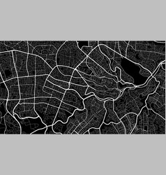 Black and white background map amman city area vector