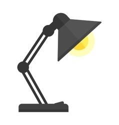 Black desk lamp vector
