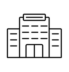 building line icon on white background vector image