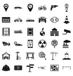Car icons set simple style vector