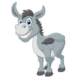 cartoon donkey smile and happy vector image
